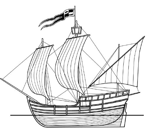 Pinta Line Drawing illustration