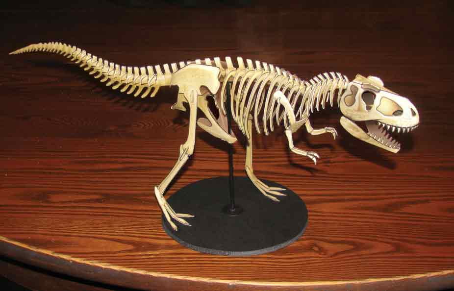 T Rex Skeleton paper model