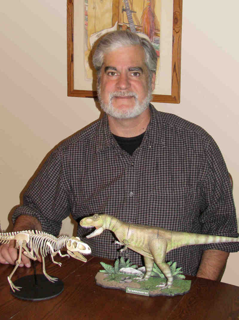Richard with T Rex and Xray T Rex