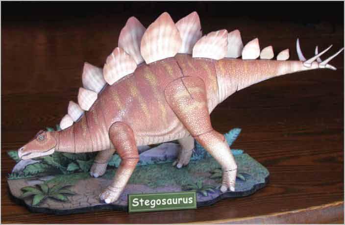 Stegosaurus paper model