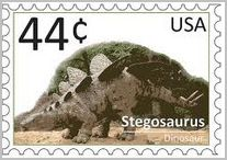 stegosaurus postage stamp From USA