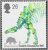 stegosaurus postage stamp Great Britain