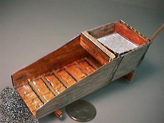 Gold Rocker Box paper model