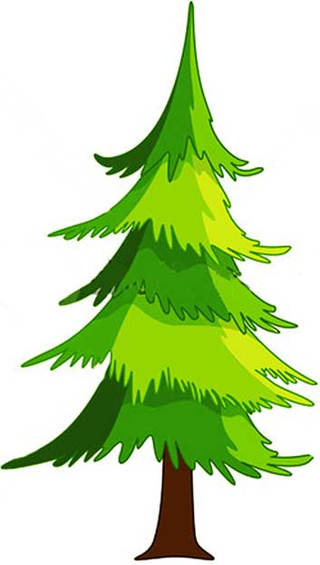 planting trees cartoon. Spruce Tree-Downloadable