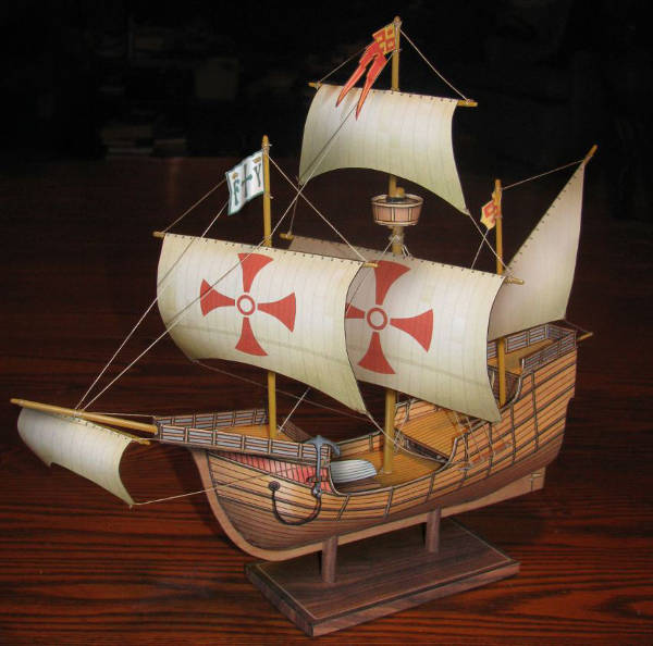 beta build of the Santa Maria paper model ship