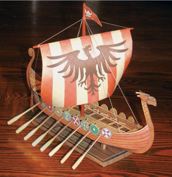 paper model of the Fiddlersgreen Viking Ship