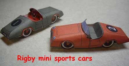 Rigby miniature sports cards from book