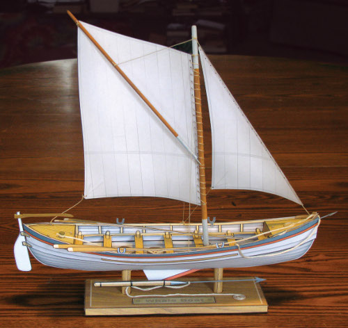 Whale Boat paper model