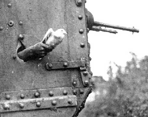 Carrier pigeon A7V Tank communications