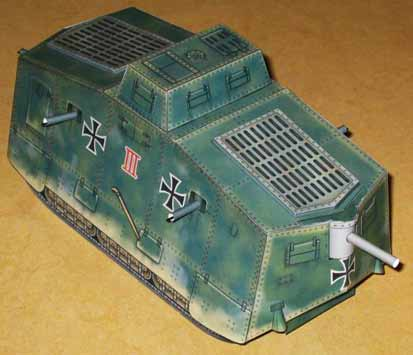Wotan A7V WWI German Tank
