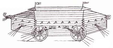 early horse propelled combat vehicle