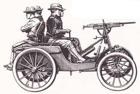 first motor gun car