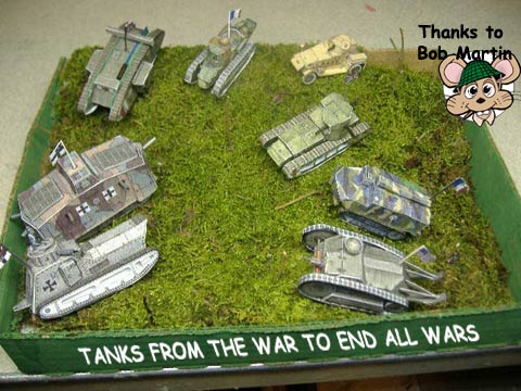Awesome WWI tank collection cardmodel war Fiddlersgreen.net