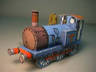 Blue Bell Locomotive Paper Model