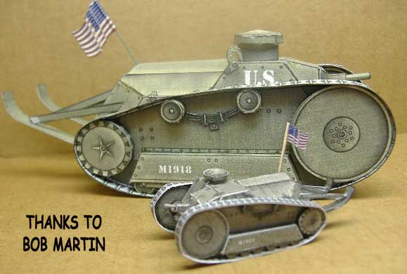 Ford M1918 Light Tank paper model