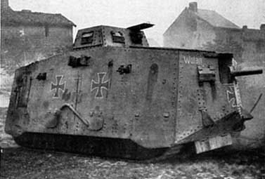 the A7V WWI German tank