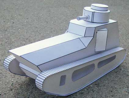 LK-II German Tank cardmodel-beta