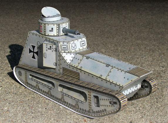 Paper model of the LK-II German WWI Tank