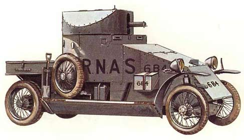 Lanchester Armored Car of 1915