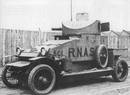 Lanchester Armored WWI Car