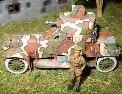 Lanchester Armored Car in WWI camo