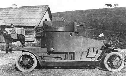 Lanchester Armored Car posing