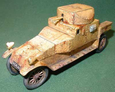 Model of Lanchester Armored Car
