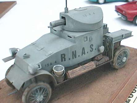 Blue-gray Model of Lanchester Armored Car