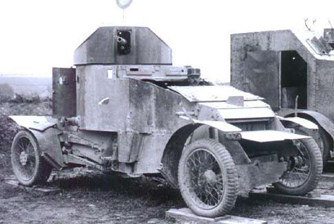 Lanchester Armoured Car on the scrap heap