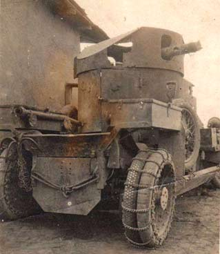 Lanchester Armoured Car rear details