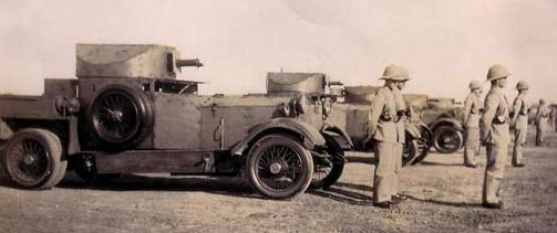 Lanchester Armored Cars being inspected