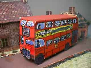 London Double Decker Red Bus paper model