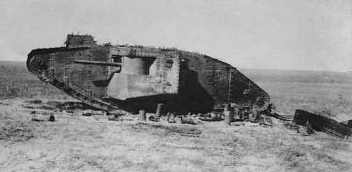 Mark IV WW1 Tank- wrecked in France