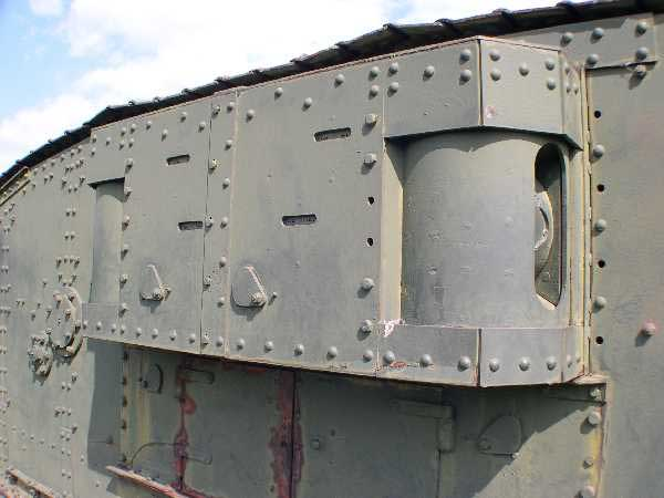 Mark IV WW1 Tank view of the sponson