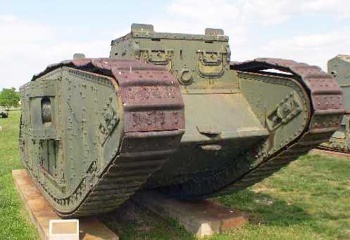 Mark IV WW1 Tank exhibited at the Abredeen Proving Grounds