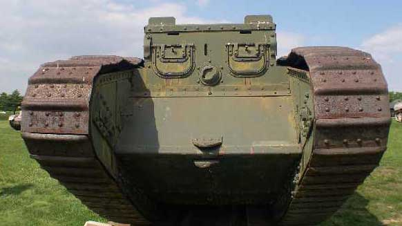 Mark IV WW1 Tank frontal view
