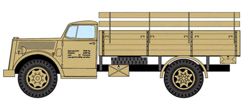 Opel Blitz truck -drawing