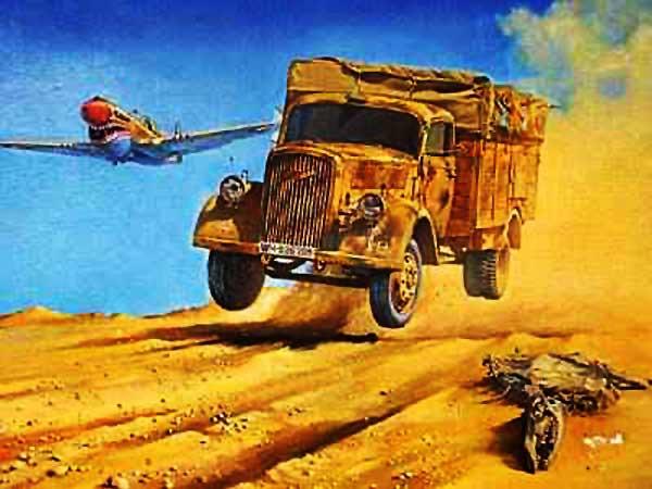 Bautizmo de fuego: 18 de abril. Opel-Blitz-Truck-Title