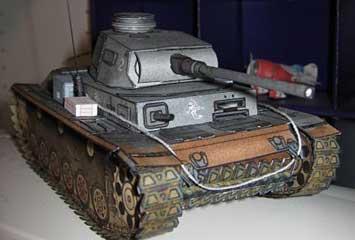 Panzer PzIII paper model