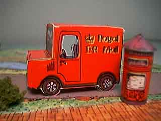 paper model of Fiddlersgreen Post Van