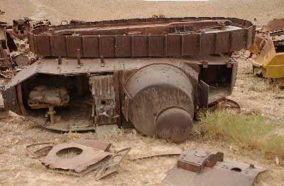 WWI tank FT-17 rusting out