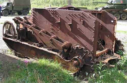 WWI tank FT-17 wreck