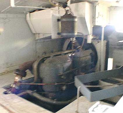 Schneider tank's engine room