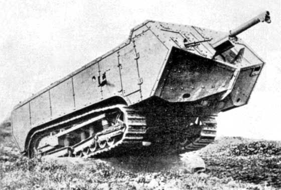 St-Chamond WWI Tank on the move looking for trouble