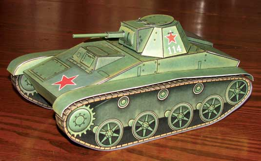 Completed T-60 WWII Russian tank