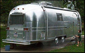 Airstream gets a wash