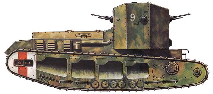 Whippet WWI tank profile