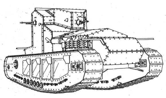 Whippet WWI tankline art